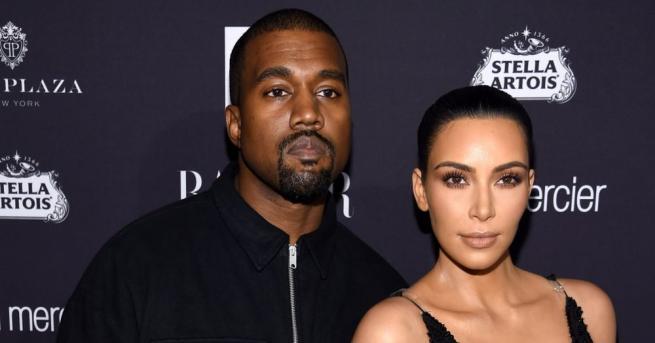 Риалити звездата Ким Кардашиян Уест и съпругът й, рапърът Кание