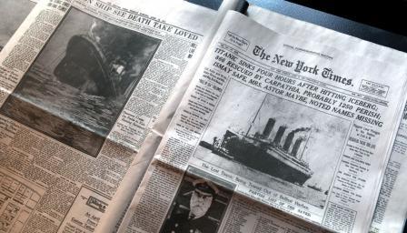 """Продадоха менюто на първия обяд на """"Титаник"""" (СНИМКА)"""