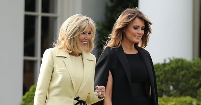 Първите дами на САЩ и Франция демонстрираха стил със своите