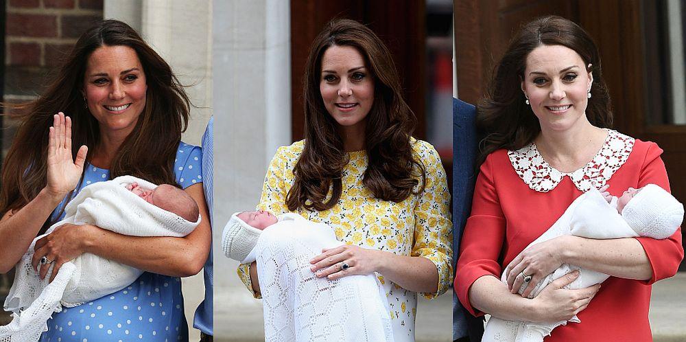 Третото дете на Кейт  Мидълтън и принц Уилям се роди в 11.01 ч. местно време в лондонската болница Сейнт Мери в понеделник, а само няколко часа по-късно семейството се прибра с новородения си син обратно в двореца Кенсингтън, а херцогинята на Кеймбридж отново привлече всички погледи със зашеметяващата си визия. Усмихната, сияеща, щастлива –  Кейт изглеждаше просто великолепно само няколко часа след като бе родила  третото си дете в прекрасна червена рокля с бяла якичка.  Нека ви припомним как изглеждаше Кейт при изписването на принц Джордж и принцеса Шарлот.