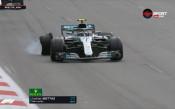 Жалко, жалко! Спукана гума лиши Ботас от победата в Баку