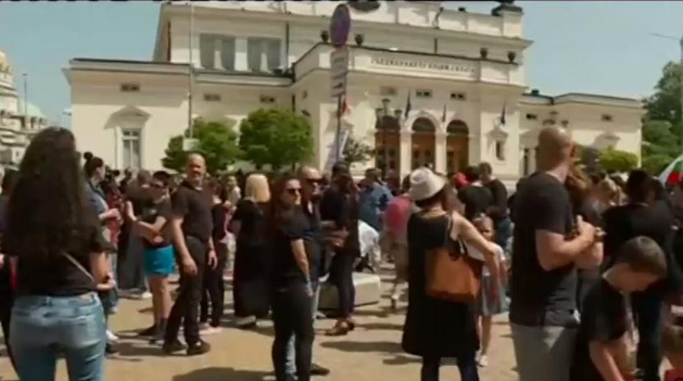Родители на протест пред парламента, символично погребаха бъдещето на...