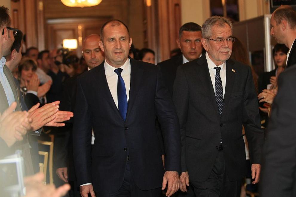 Президентът Румен Радев и австрийският му колега