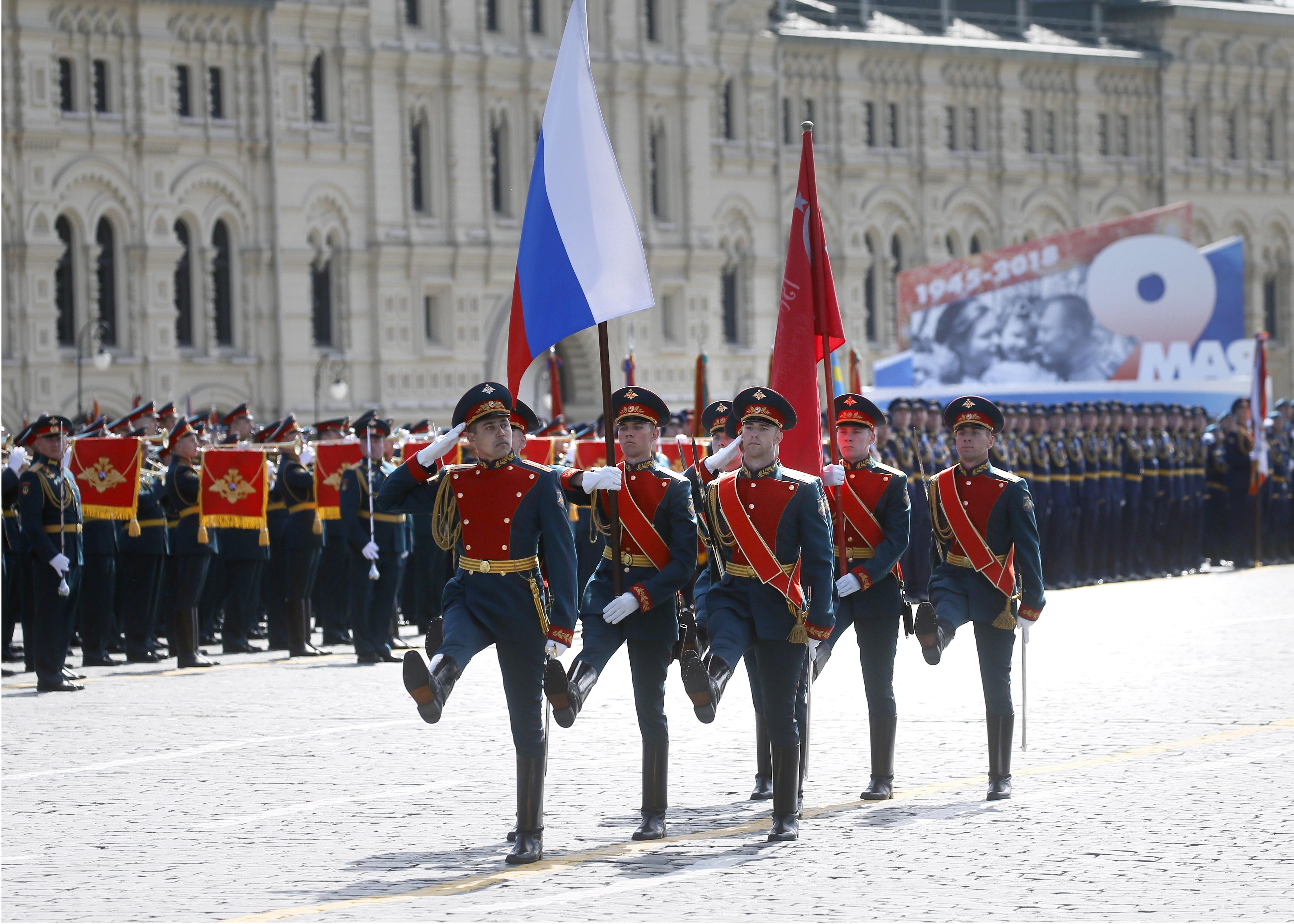 Парад в Москва по случай победата на СССР над нацистка Германия през Втората световна война.
