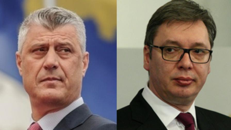 Хашим Тачи и Александър Вучич