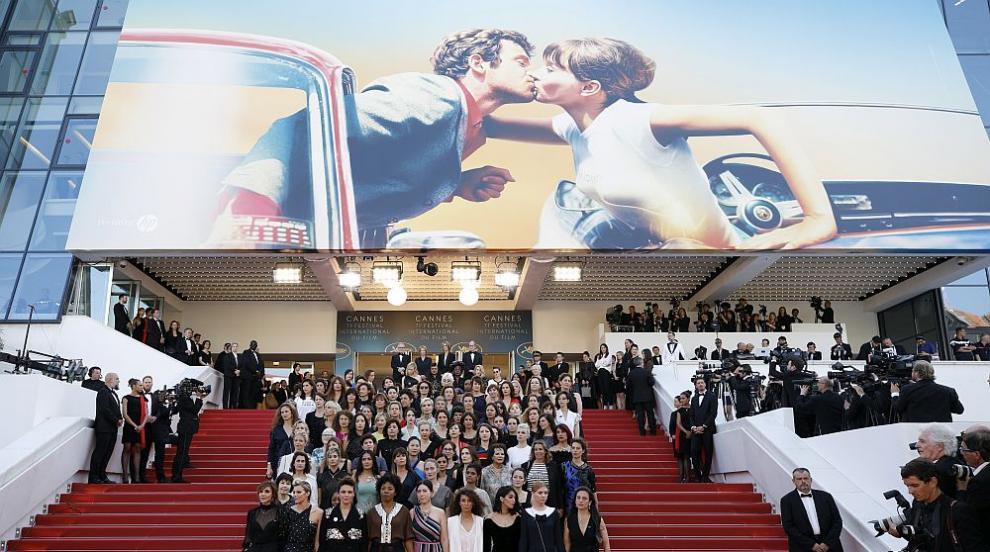 Акция в Кан: Жени поискаха всички стъпала в киноиндустрията да са достъпни...