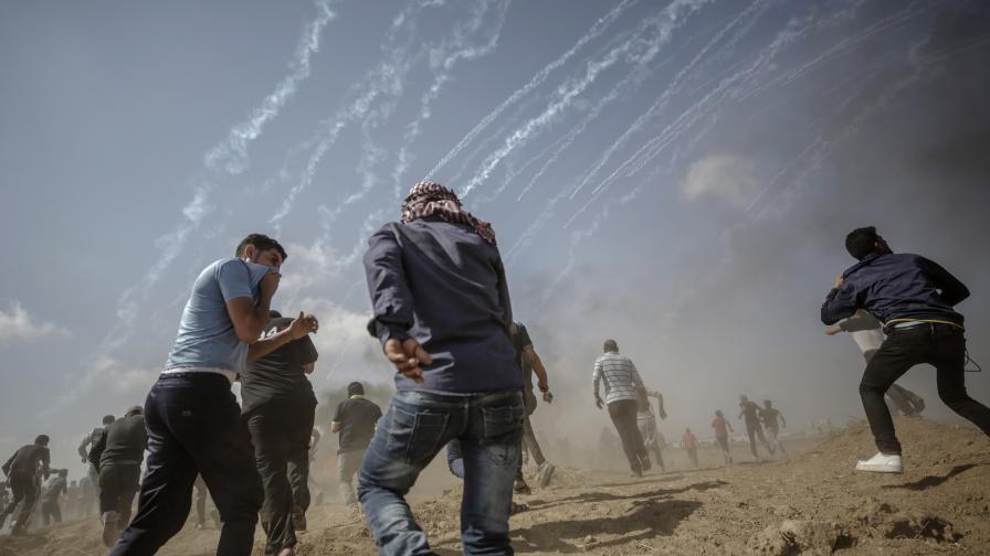 40 000 палестинци атакуваха Израел, десетки убити и над хиляда ранени