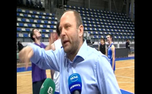 Развълнуваният Тити Папазов след класирането на Левски Лукойл на финал в НБЛ
