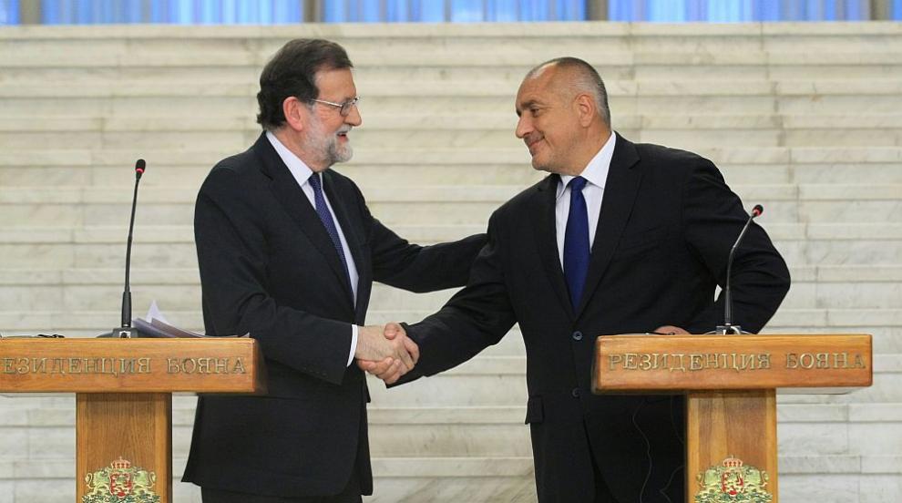 Ето какво важно си казаха Борисов и премиерът на Испания Мариано Рахой...