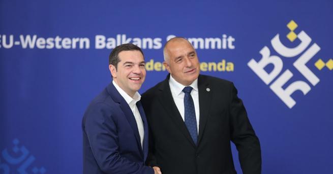 Министър-председателят Бойко Борисов и гръцкият премиер Алексис Ципрас дават началото