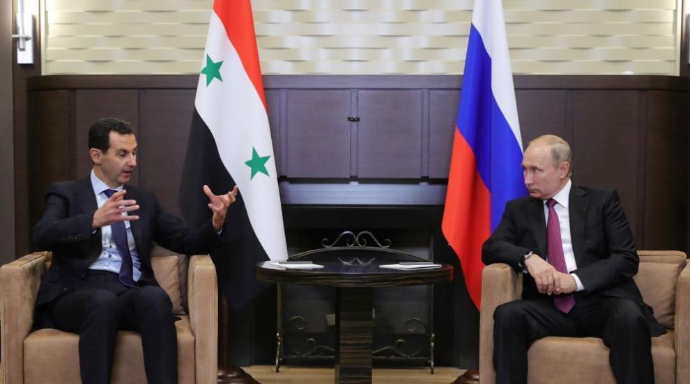 Путин и Асад обсъдиха в телефонен разговор...