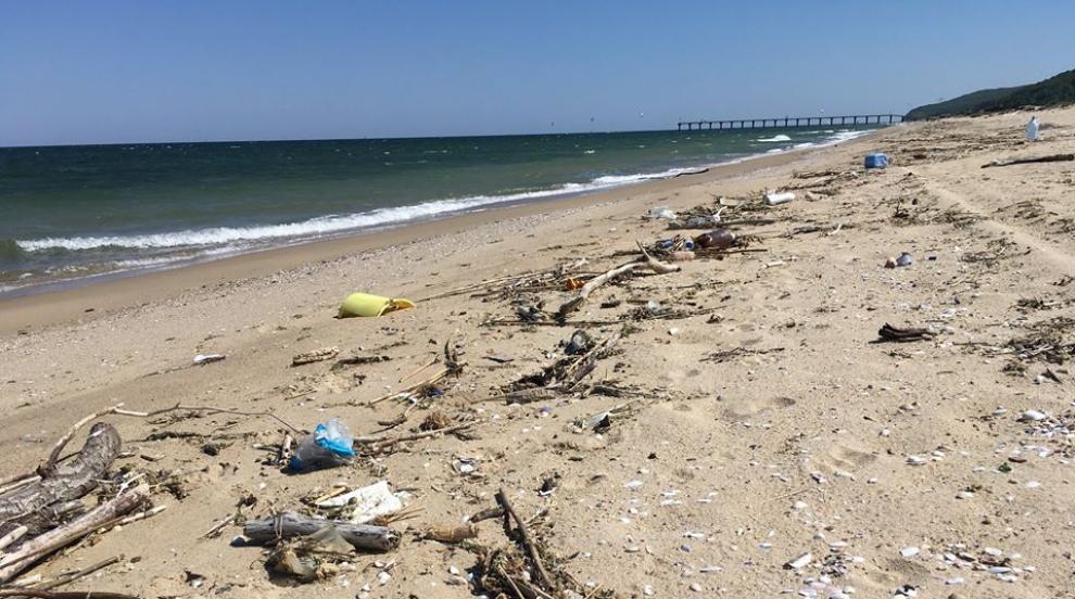 Раздават бира за чувал с боклук на плажа