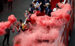 Атлетико отпразнува тилата в Лига Европа по улиците на Мадрид