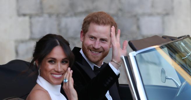 """След като се венчаха в параклиса """"Сейнт Джордж"""" в Уиндзор,"""