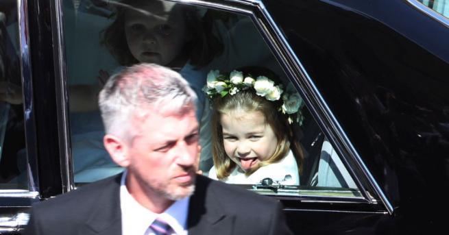 Принцеса Шарлот, която беше шаферка на сватбата на чичо си