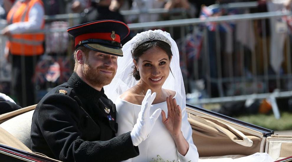 Вижте сватбата на принц Хари и Меган в 43 секунди (ВИДЕО)