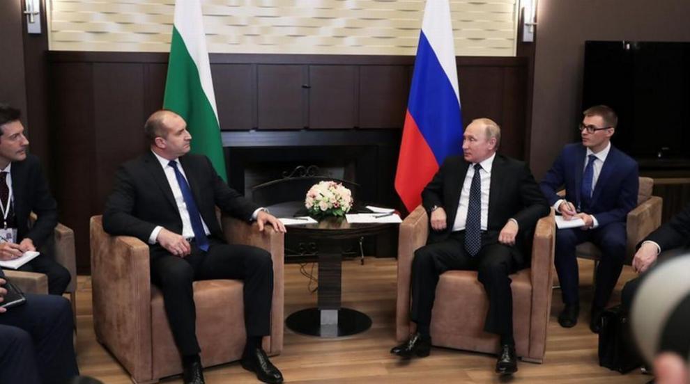 Радев пред Путин: България и Русия трябва да бъдат откровени една пред друга