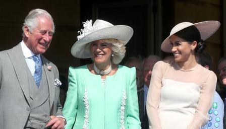 Смях по семейно: Мегън Маркъл и Камила се забавляват, докато принц Хари се бори с пчела