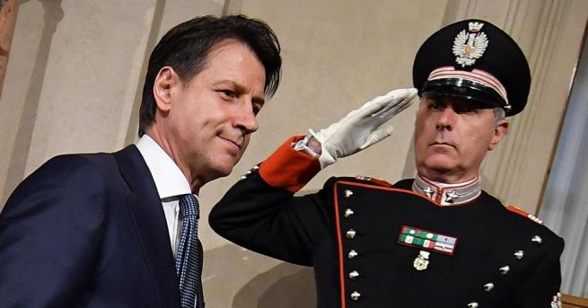 Президентът на Италия Серджо Матарела даде мандат на новодошлия в