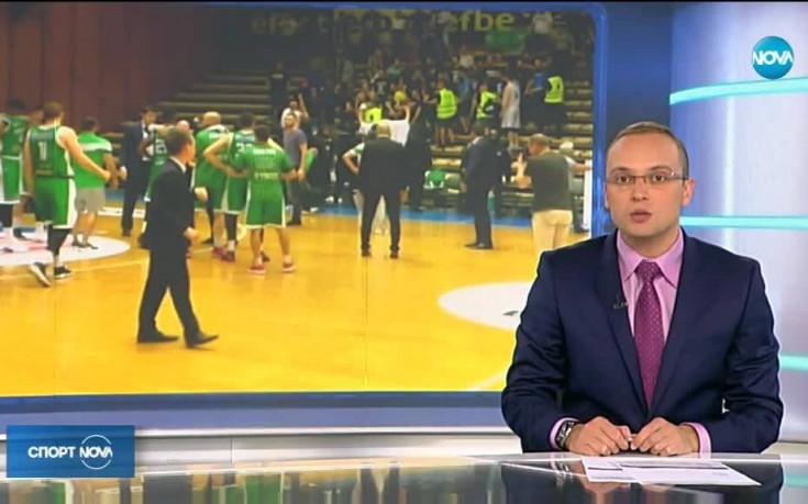 Грозни сцени белязаха втория мач между Левски Лукойл и Балкан