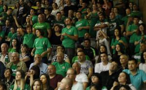 Феновете на Балкан с шествие преди третия мач от баскет-финала