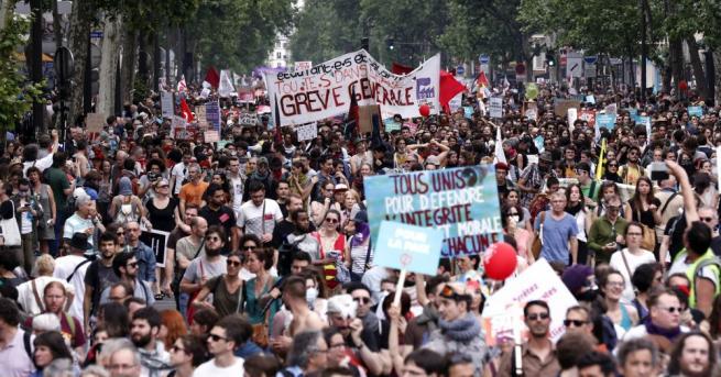 Над 60 леви партии, сдружения и синдикати протестираха в редица