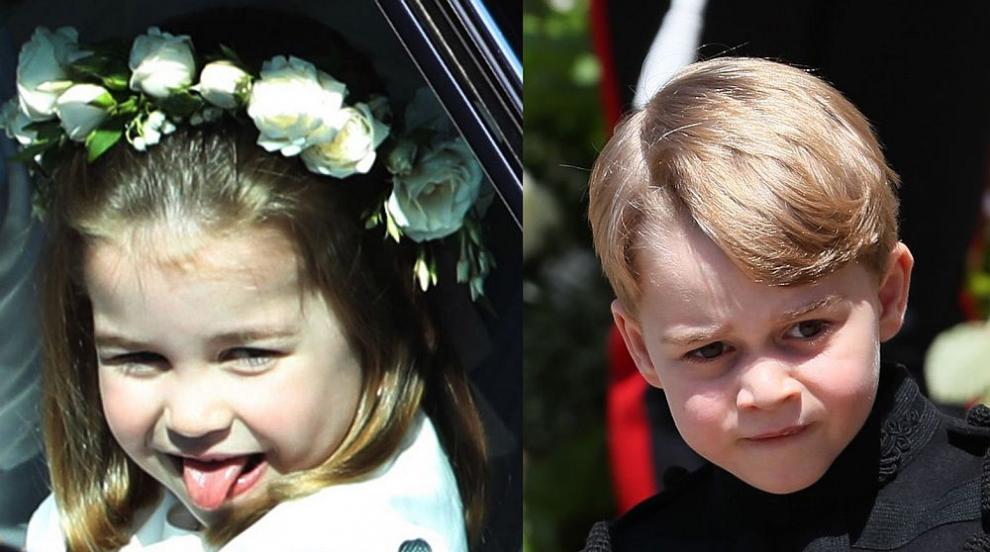 Маршируване, игри и забавления: Джордж и Шарлот шафери на сватба (СНИМКИ)