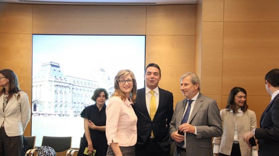 Екатерина Захариева от Брюксел: Гърция и Македония постигнаха съгласие за името
