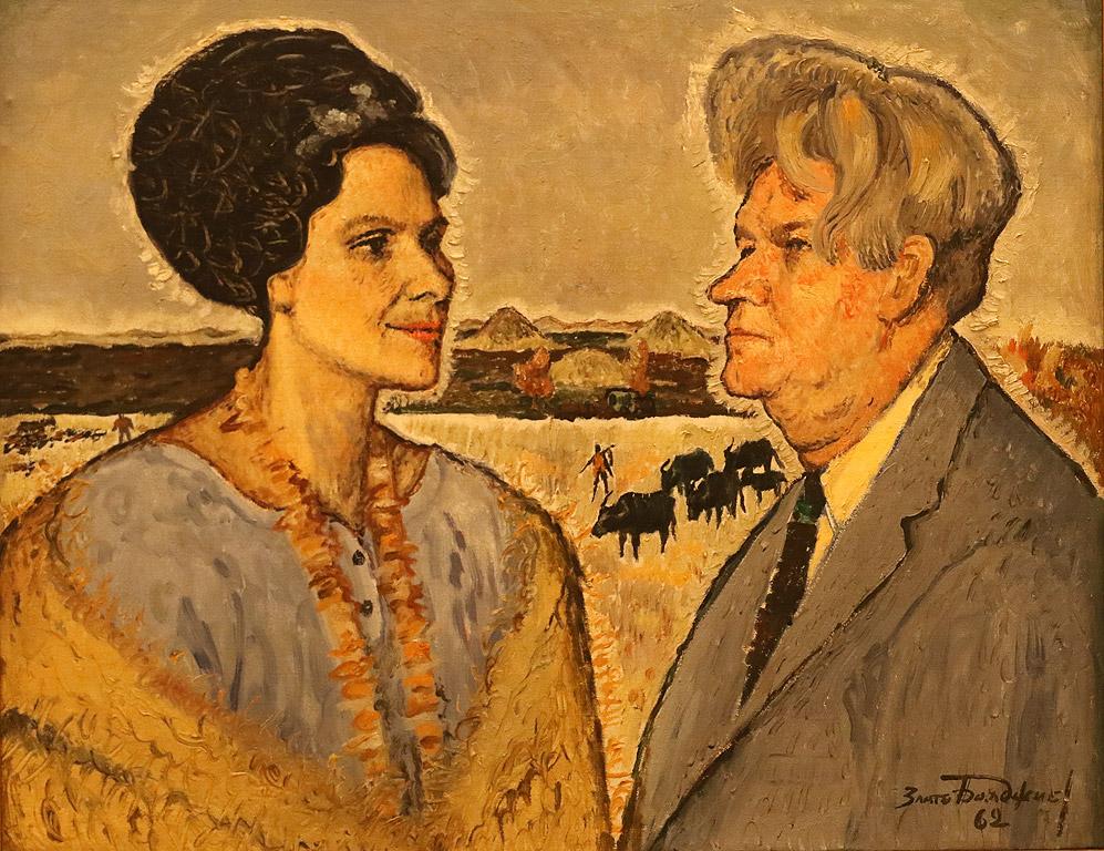 Писателят Стоян Ц, Даскалов и съпругата му - поетесата Лиана Даскалова, 1962 г.