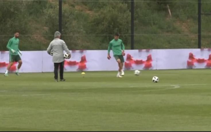 Кристиано Роналдо се подготвя за първата си контрола с Португалия
