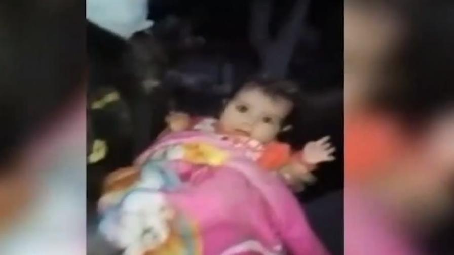 Откриха живо момиченце под пепелта на Фуего (Видео)