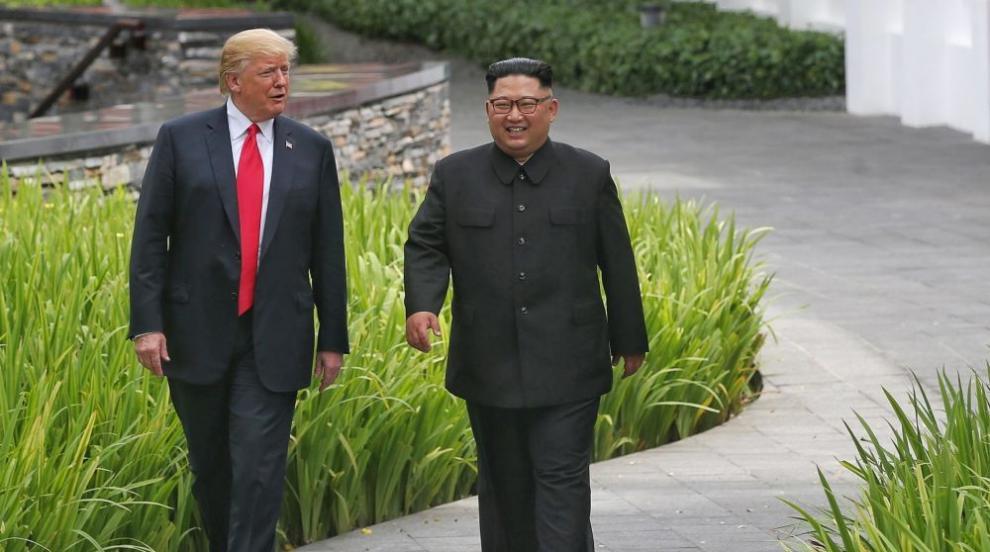"""Според Тръмп Ким """"вижда различно бъдеще"""" за Северна Корея"""
