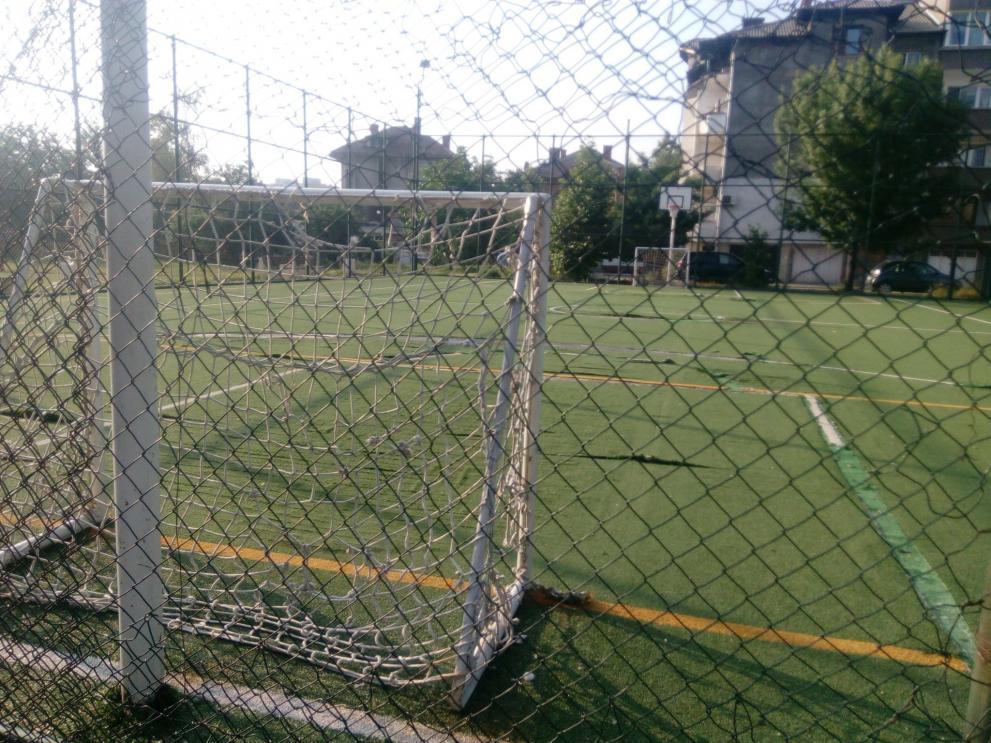 Спортна площадка на улица Георги Тертер