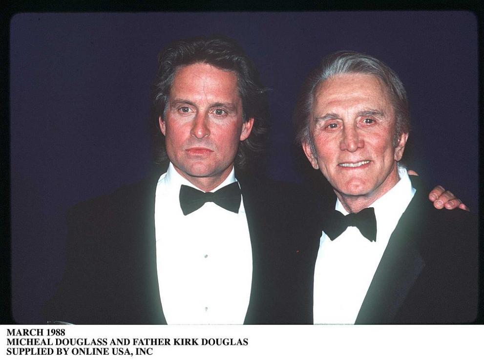 Три поколения Дъглас пък се изявяват във филма от 2003 година It Runs in the Family (Семейна черта). Майкъл Дъглас се превъплъщава в адвоката Алекс Громбърг, а легендата Кърк Дъглас е в ролята на бащата на Алекс. Камерън Дъглас пък играе синът на Алекс - Ашър.