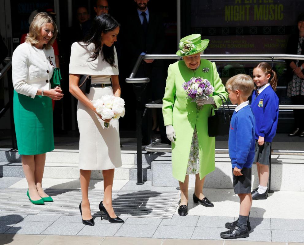 Първият официален съвместен ангажимент с кралицата на херцогинята на Съсекс Меган, 14 юни 2018 година