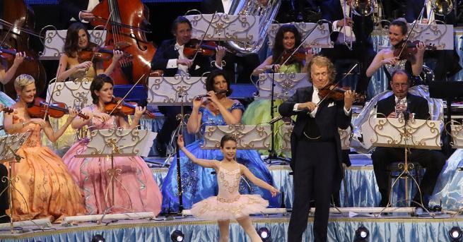 Световноизвестният диригент и цигулар Андре Рийо изнесе първия си концерт