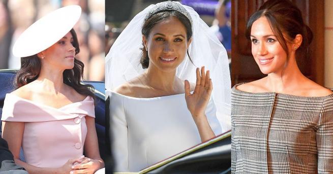 Снимка: Херцогиня Меган връща модата откритите рамене