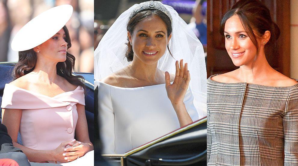 Херцогиня Меган връща модата на откритите рамене (СНИМКИ)