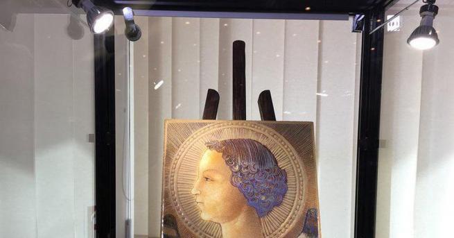 Най-ранната творба на Леонардо да Винчи (1452-1519 г.) беше представена