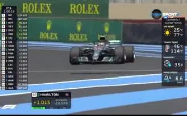 Хамилтън зададе темпото във Франция