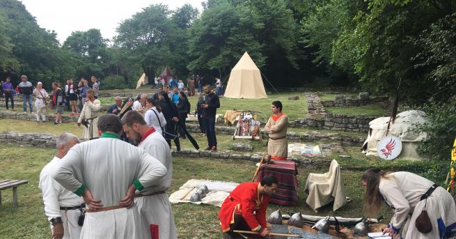 Близо 2 века преди Аспарух да основе България, тук вече
