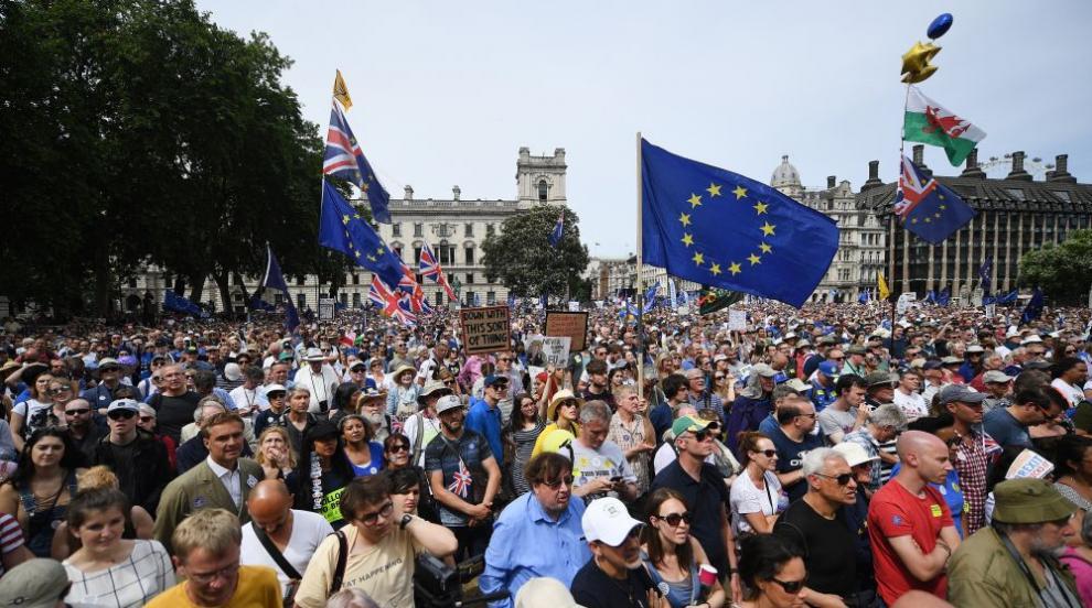 Протести в Лондон навръх годишнината от референдума за Брекзит (СНИМКИ/ВИДЕО)