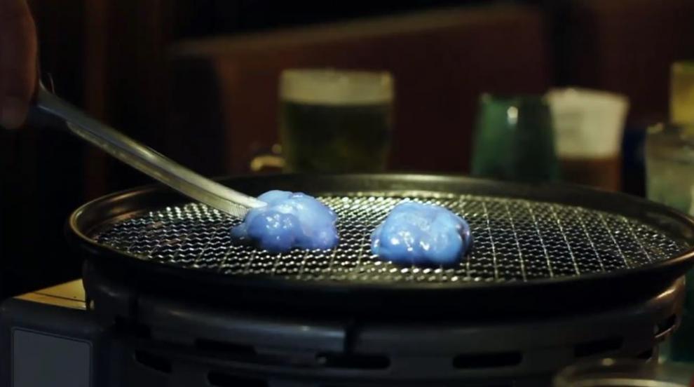Ресторант в Киото предлага...синьо месо (ВИДЕО)