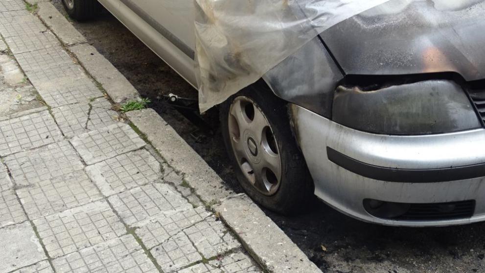 пожар автомобил в Благоевград