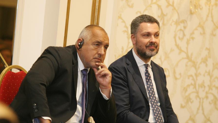 Лука Византини и Бойко Борисов