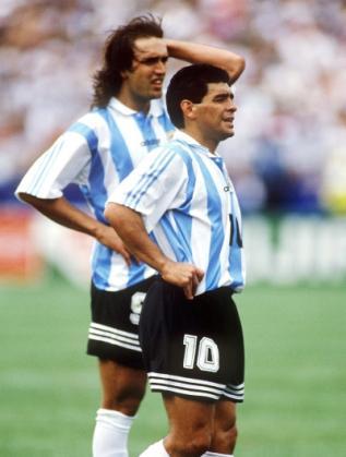 Марадона и Батистута
