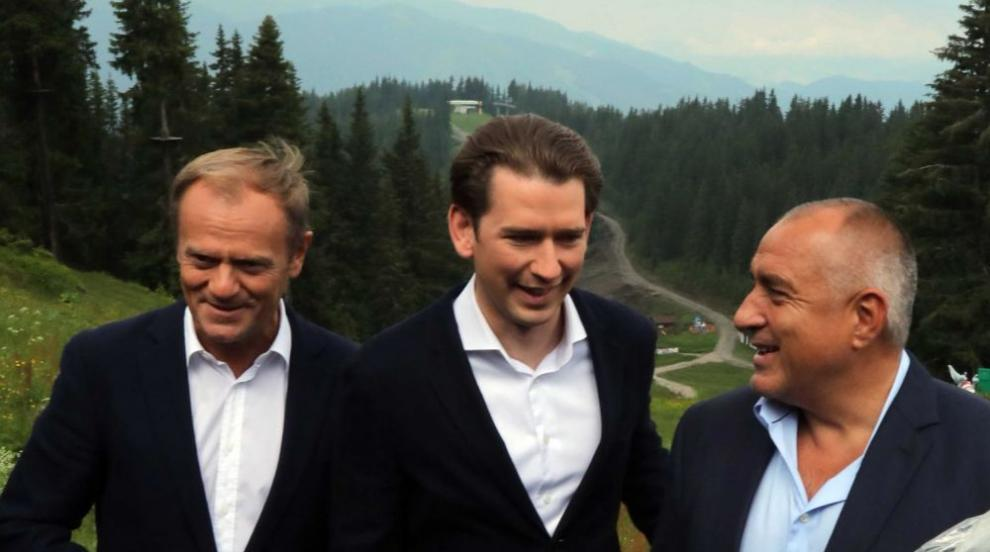 Борисов пожела успех на Курц с Европредседателството