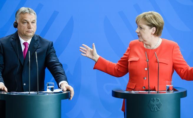 Меркел и Орбан се скараха заради мигрантите (ВИДЕО)