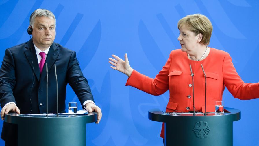 Виктор Орбан и Ангела Меркел