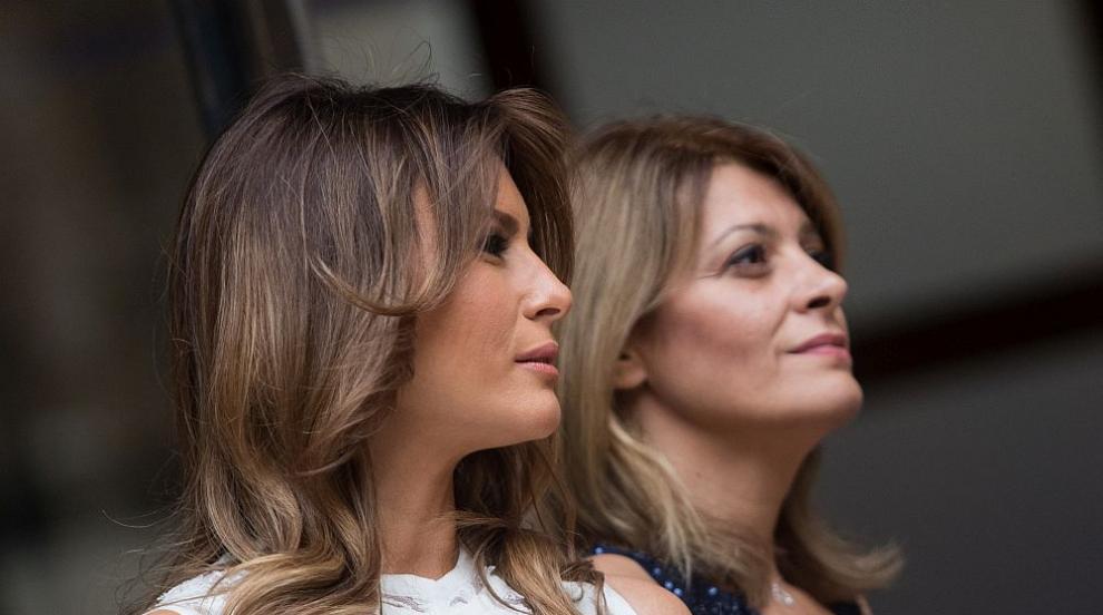 Мелания Тръмп и Десислава Радева се забавляват в Белгия (ВИДЕО/СНИМКИ)